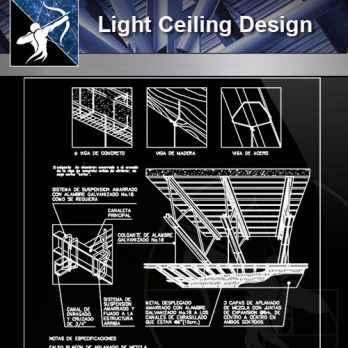 【Architecture CAD Details Collections】Light Design,Ceiling Design CAD Detail
