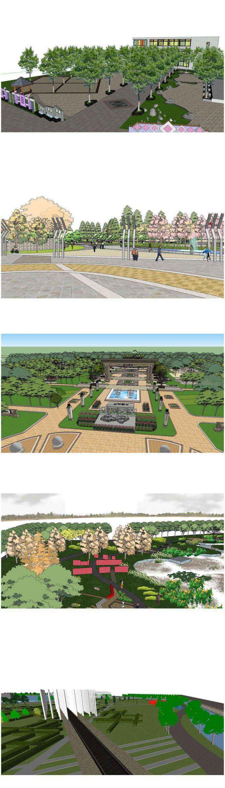 Sketchup 3D Models】20 Types of Park Landscape Sketchup 3D ...